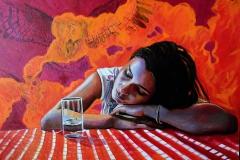 Małgorzata Limon malarstwo obraz pt. Nostalgia