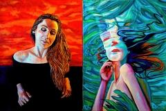 Małgorzata Limon. malarstwo dyptyk