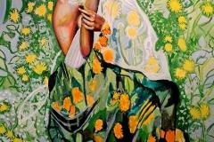 Małgorzata Limon. malarstwo obraz pt. dmuchawiec