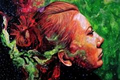 Małgorzata Limon. malarstwo obraz pt. kosmos