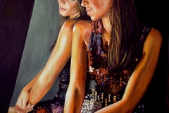 Małgorzata Limon. malarstwo obraz pt. lustro
