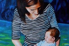 Małgorzata Limon. malarstwo obraz pt. macierzyństwo