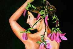 Małgorzata Limon. malarstwo obraz pt. magnolia